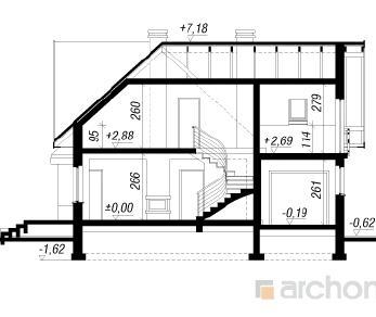 Проект  Дом в веселках, 156.8 м2