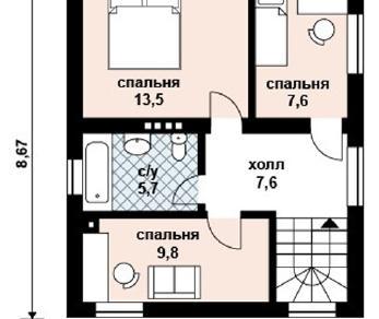 Проект дома AS-2040, 92 м2