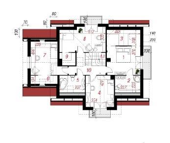 Проект  Дом в лобелиях 4, 203.3 м2