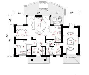 Проект  Дом под сикоморой, 180.7 м2