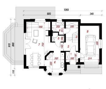 Проект  Дом в ананасах, 135.8 м2