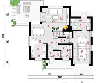 Проект  Дом под личи 3, 137.8 м2