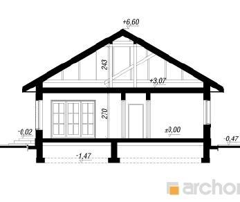 Проект  Дом в имбири, 125.4 м2