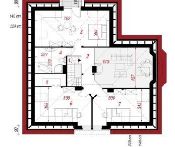 Проект  Дом в белоцветнике, 169.3 м2