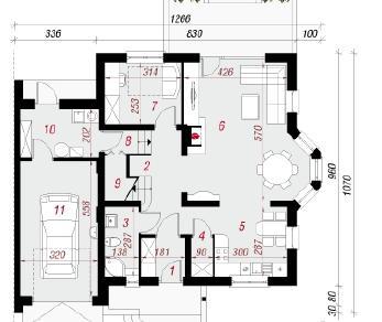 Проект  Дом в тамарисках 2 (Б), 161.8 м2