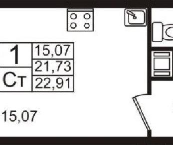 Продажа квартиры дер. Кудрово, Пражская ул., д. 13