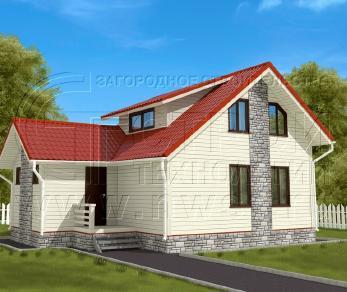 Проект дома Проект дома №127, 59 м2