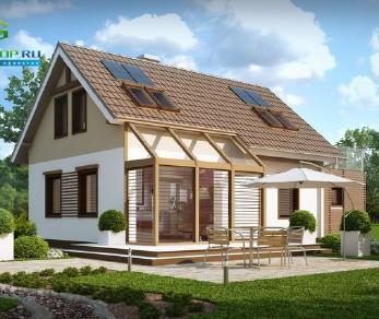 Проект дома Проект z220, 109.3 м2