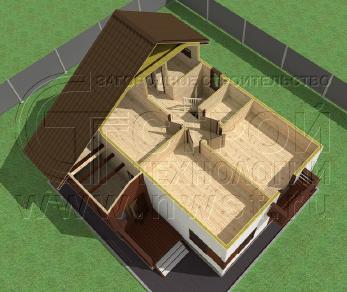 Проект дома Проект дома №124, 54 м2