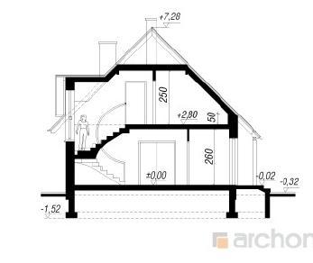 Проект  Дом на лугу, 88 м2