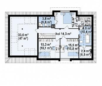 Проект дома Проект Z171, 275.8 м2