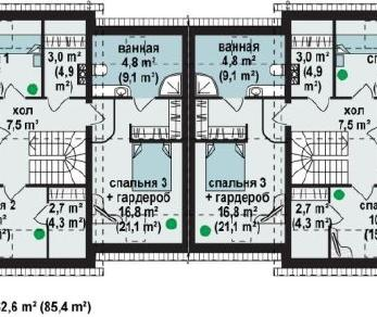 Проект дома Проект zb3, 177.5 м2