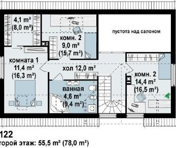 Проект дома Проект z122, 173 м2
