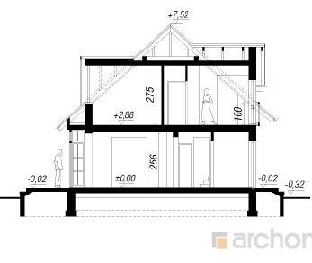 Проект  Дом в далиях, 135.6 м2