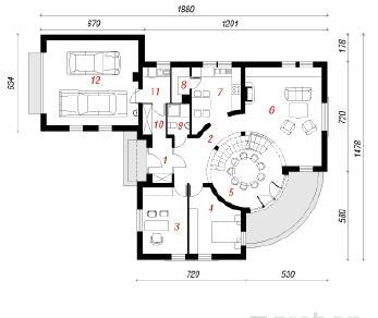 Проект  Дом под платаном 2, 228 м2