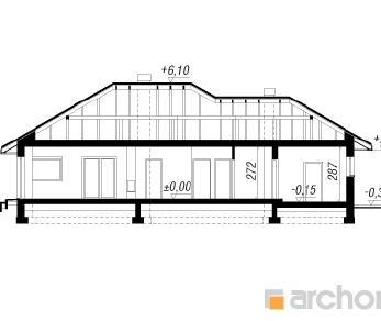 Проект  Дом под цицербитой, 139.8 м2