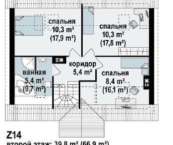 Проект дома Проект z14, 135.1 м2