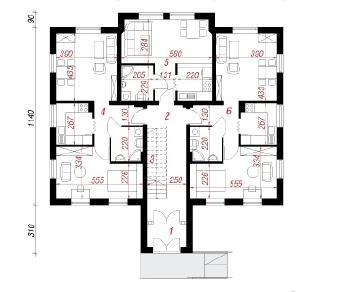 Проект  Дом у бульвара 3, 631.2 м2