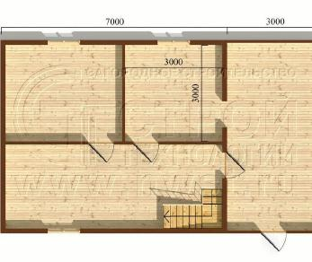 Проект дома Проект дома №87, 60 м2