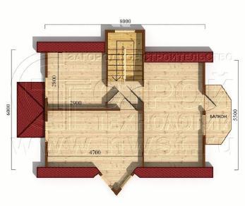 Проект дома Проект дома №106, 51.5 м2
