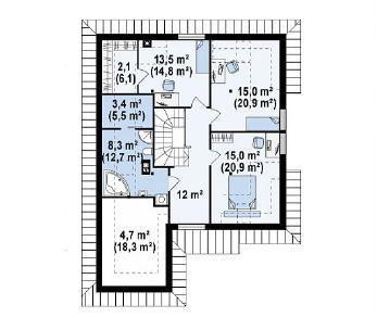 Проект дома Проект Z49, 215.9 м2