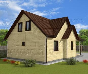 Проект дома Проект дома №26, 78 м2