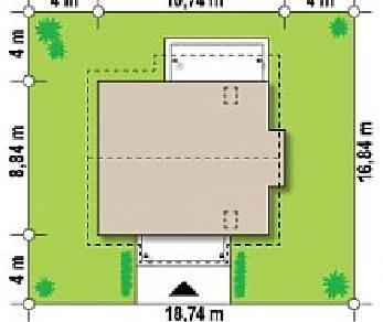 Проект дома Проект Z162, 134.1 м2