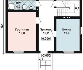 Проект дома AS-2095-2, 96 м2
