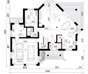 Проект  Дом в пионах 2, 221.5 м2