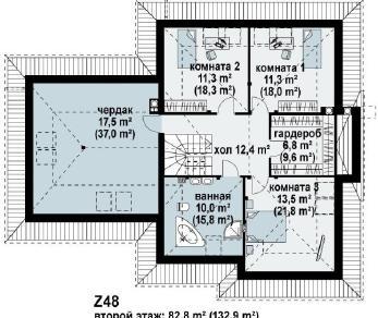 Проект дома Проект z48, 255.8 м2