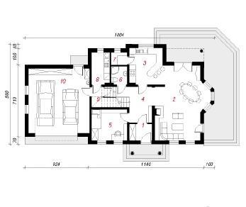 Проект  Дом в левкоях Г2, 206.5 м2