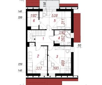 Проект  Дом в клематисах 7 (Б), 152.2 м2