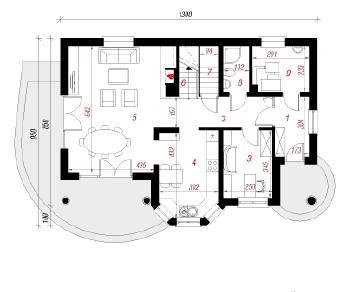 Проект  Дом в майоране 2, 152.8 м2