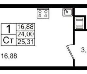 Продажа квартиры Кудрово, Европейский пр., д.3