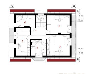 Проект  Дом под калиной, 149.8 м2