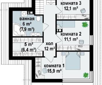 Проект дома Проект z155, 126.3 м2