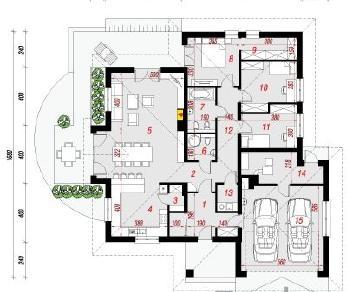 Проект  Дом в лобо (Г2), 172.7 м2