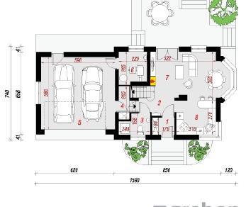 Проект  Дом в перловнике (Г2Н), 149.1 м2