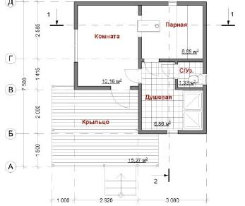 Проект дома Тар, 40 м2