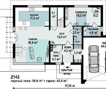 Проект дома Проект z142, 247.1 м2