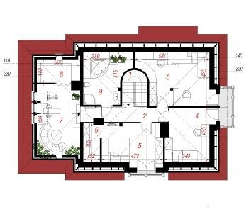 Проект  Дом в гиацинтоидесе, 178.3 м2