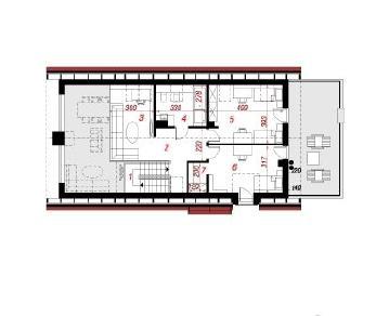 Проект  Дом в лаврах, 180.6 м2