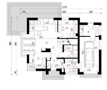 Проект  Дом в кардамоне, 145.1 м2
