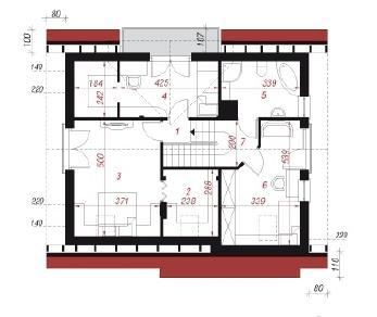 Проект  Дом под личи, 134.4 м2