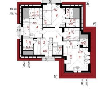 Проект  Дом в ноготках 2, 251.5 м2