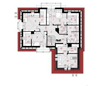 Проект  Дом в георгиниях, 268 м2