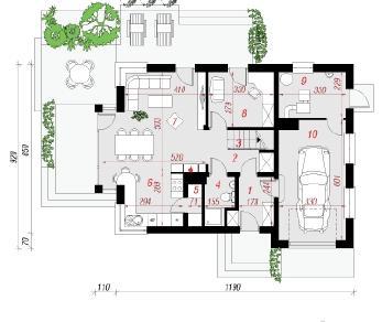 Проект  Дом в лириодендрон, 156.4 м2