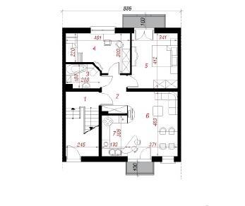 Проект  Дом в саговниках, 193.6 м2