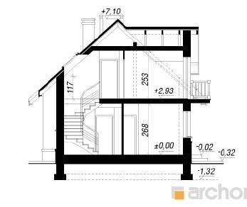 Проект  Дом в люпине, 137.4 м2