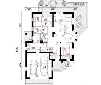 Проект  Дом в кокосах2, 216.2 м2